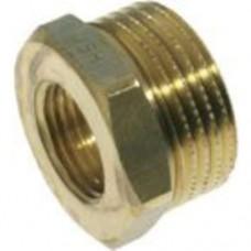 Verloop ring, messing 3/4''X6/4''