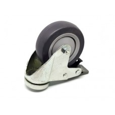Zwenkwiel met rem, wiel diameter 75 mm